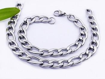 Set řetězu a náramku z chirurgické oceli 20559