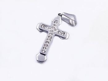 Zyta Kříž přívěsek z chirurgické oceli zirkon 20610