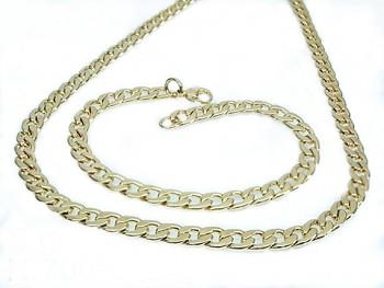Ocelový set náhrdelníku a náramku zlatý 20611