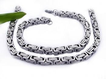 Ocelový set řetězu a náramku 20612