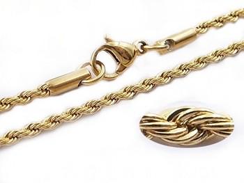 Zlatý ocelový řetízek 75 cm 20613