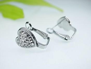 Náušnice ocelové Srdce 20640