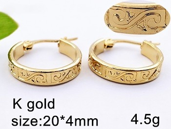 Náušnice zlaté kruhy z chirurgické oceli 20631