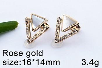 Náušnice ocelové růžové zlato 20635