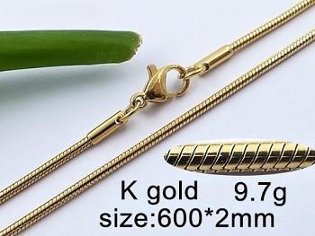 Zyta Řetízek z chirurgické oceli zlatý 20650 Unisex