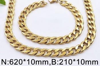 Zyta Set náramek a náhrdelník z chirurgické oceli UNISEX 20619