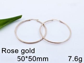 Zyta Náušnice z chirurgické oceli kruhy 5 cm 20701