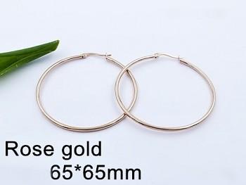 Zyta Náušnice z chirurgické oceli růžové zlato 20714