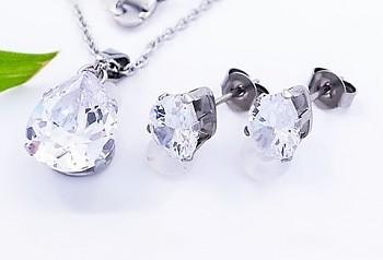 Zyta Set náušnic a náhrdelníku chirurgická ocel 20738