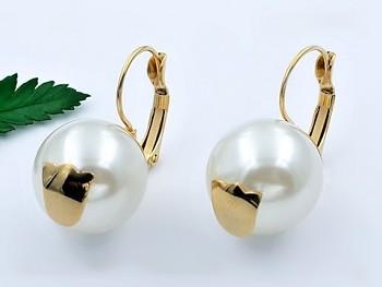 Zyta náušnice chirurgická ocel perla 20741