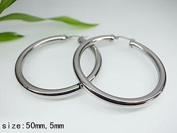Zyta Náušnice kruhy z chirurgické oceli 20757