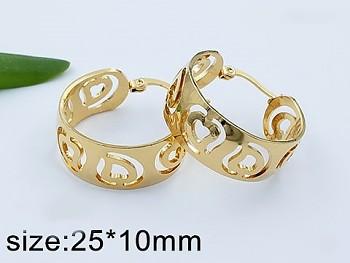 Náušnice z chirurgické oceli zlaté kruhy 20769