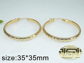 Zyta Náušnice z oceli zlaté kruhy 20758