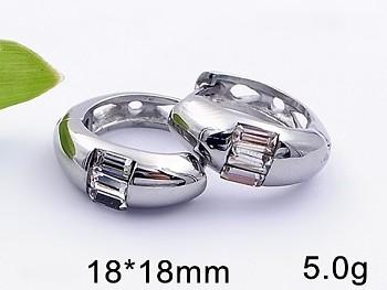 Zyta Náušnice z chirurgické oceli kruhy 20782