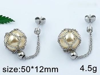 Zyta Náušnice z chirurgické oceli s perlou 20783