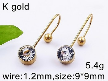 Piercing zlatá chirurgická ocel 20533