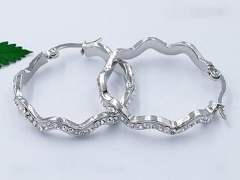 Zyta Náušnice kruhy ocelové 20820