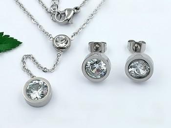 Zyta Set náušnic a náhrdelníku chirurgická ocel 20817