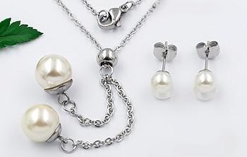 Zyta Set náušnic a náhrdelníku , chirurgická ocel 20816