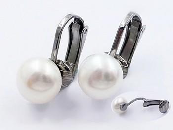 Zyta Náušnice ocelové klipsy perlové 20823