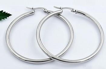 Zyta Náušnice  ocelové kruhy 20839