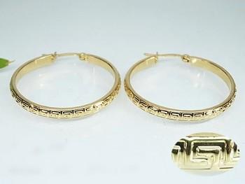 Zyta  Náušnice zlaté kruhy z chirurgické oceli 20837