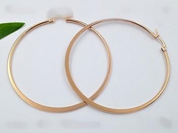 Zyta Náušnice ocelové  kruhy, růžové zlato 20849