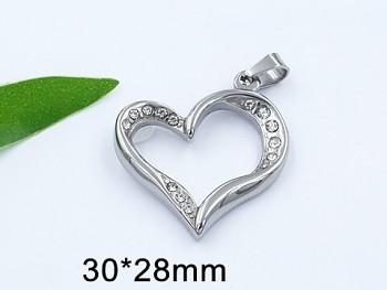 Zyta Přívěsek srdce z chirurgické oceli 20834
