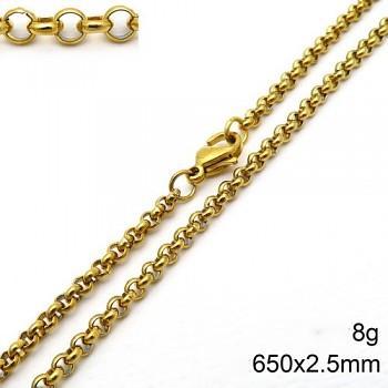 Zyta Řetízek dámský ve zlaté chirurgické oceli 20865