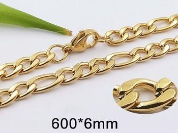 Zyta Řetízek z chirurgické oceli zlatý 20885