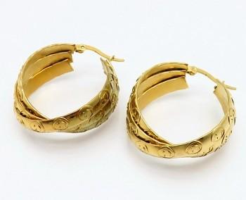 Zyta Náušnice z chirurgické oceli kruhy zlaté 20914
