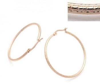 Zyta Náušnice kruhy chirurgická ocel, růžové zlato 20916