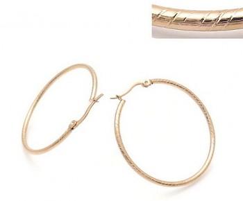 Zyta Náušnice kruhy chirurgická ocel, růžové zlato 20917