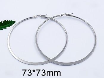 Zyta Náušnice z chirurgické oceli kruhy 20895
